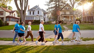 Ladies exercising to become a healthy community