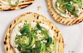 Flatbread with White Bean Puree and Asparagus