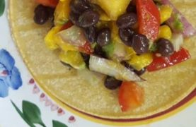 Mango & Black Bean Tacos