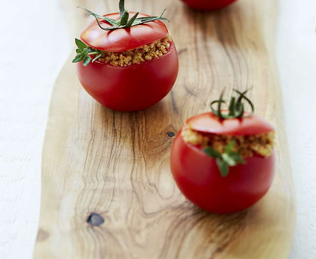 Barley Stuffed Tomatoes from Blue Zones
