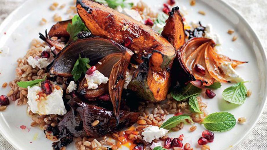 Pumpkin Feta Salad from Epicurious