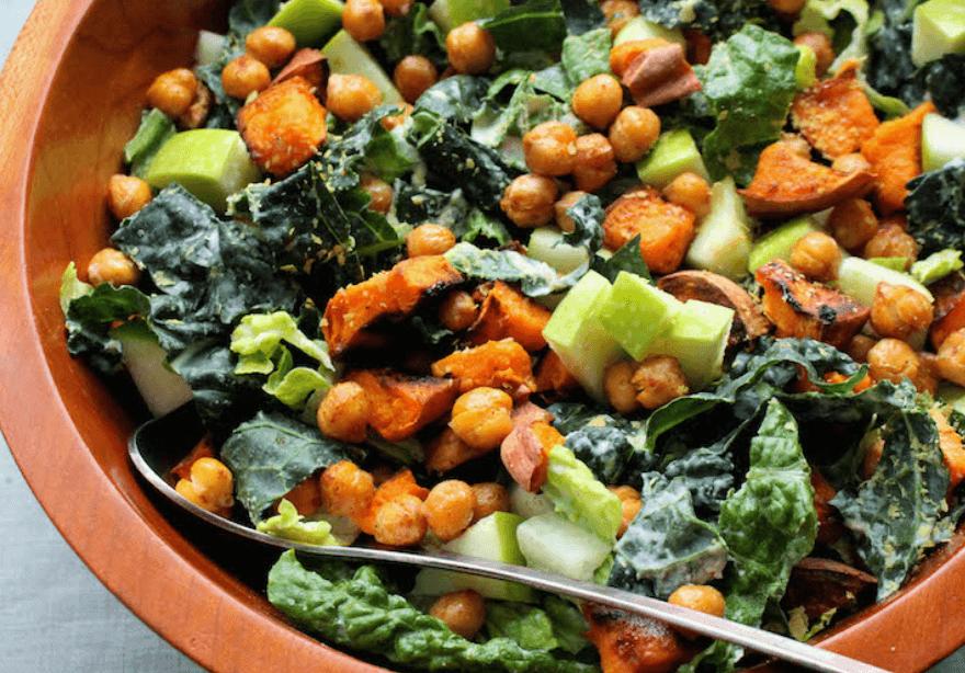 chickpea-caesar-salad