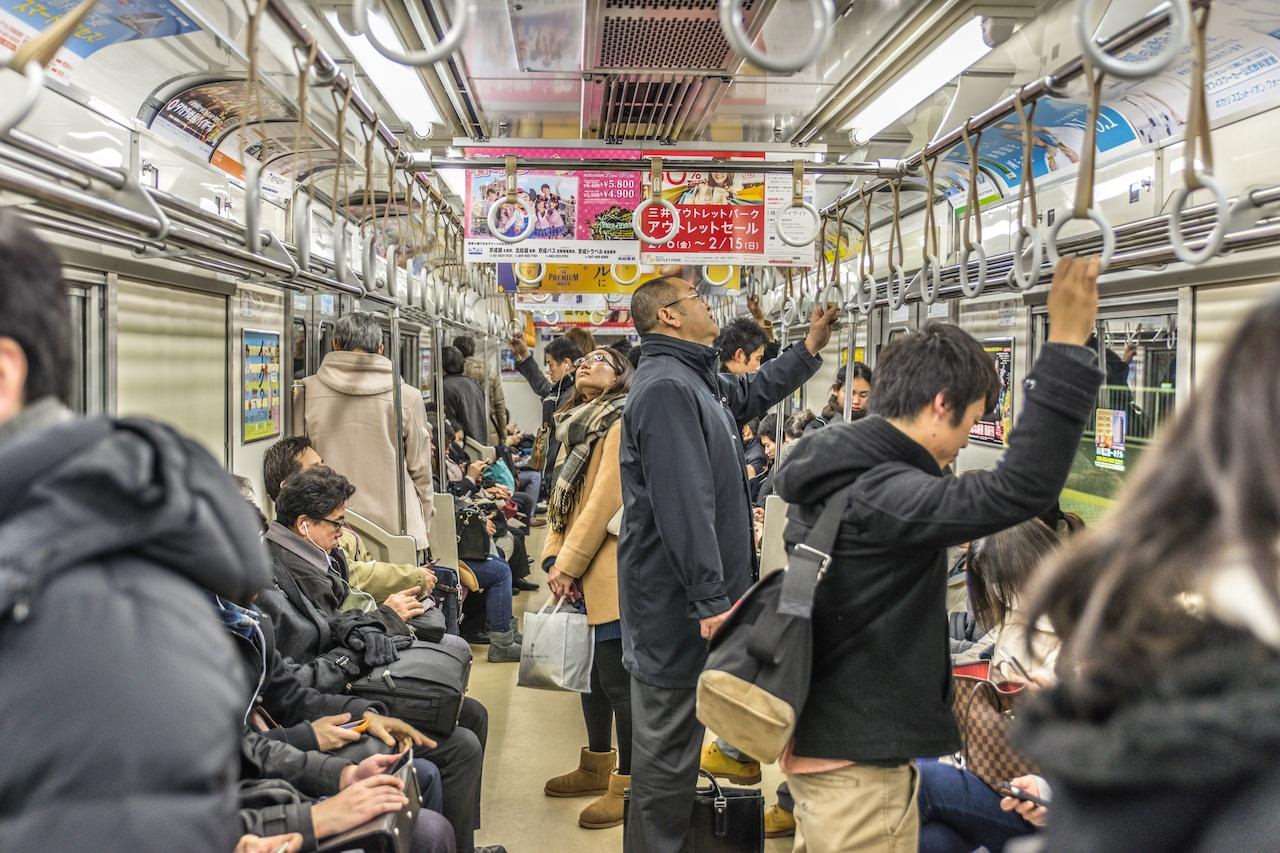 japan tokyo busy subway
