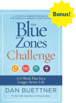 Book cover of Blue Zones Challenge